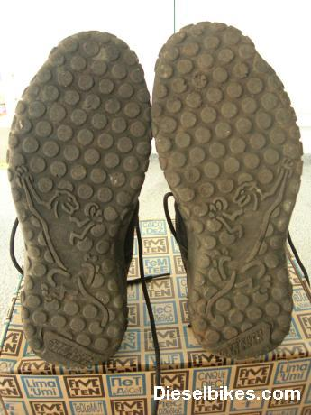 View of wear on botton Soles